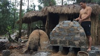 Primitive Technology:Furnace from Brick-Primitive life-wilderness! thumbnail