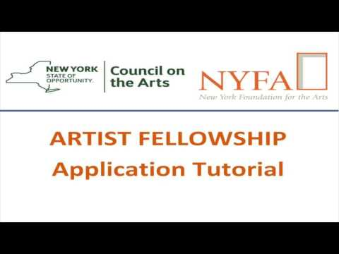 NYSCA/NYFA Artist Fellowship How To Video