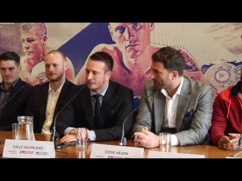 GEORGE GROVES v ANDREA DI LUISA - OFFICIAL PRESS CONFERENCE WITH KALLE SAUERLAND & EDDIE HEARN