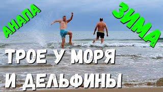 #АНАПА - 7.50 УТРА - ДЕЛЬФИНЫ И ТРОЕ У МОРЯ 8.12.2019