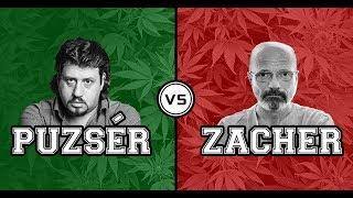 Puzsér Róbert Zacher Gáborral vitázik a marihuána legalizálásáról