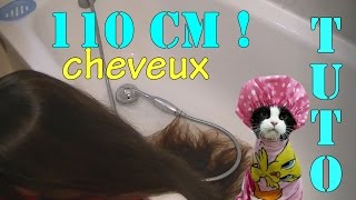/TUTO/ COMMENTJE LAVE MES LONGS CHEVEUX DE 110 CM!HOW I WASH MY HAIRS!