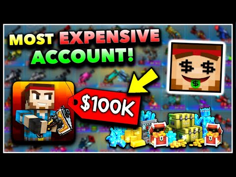 $100,000 MAXED OUT ACCOUNT In Pixel Gun 3D! Everything In Game! (All Weapons At Max Level)