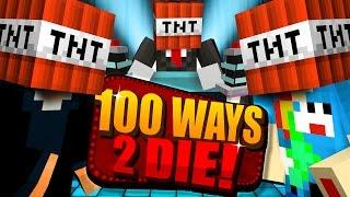 Minecraft 100 WAYS TO DIE CHALLENGE I BLEW THIS ONE