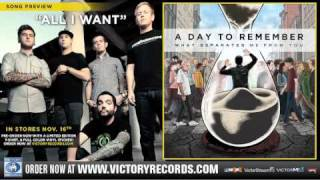 "A DAY TO REMEMBER ""All I Want"" Official Audio Stream"