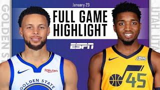 Golden State Warriors vs. Utah Jazz [FULL GAME HIGHLIGHTS] | NBA on ESPN