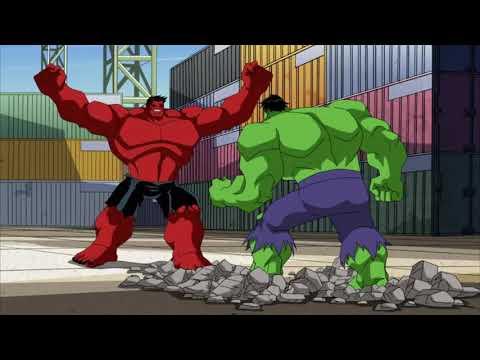 Красный халк и зеленый халк мультфильм