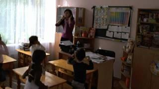 Урок английского в детском саду, часть 1