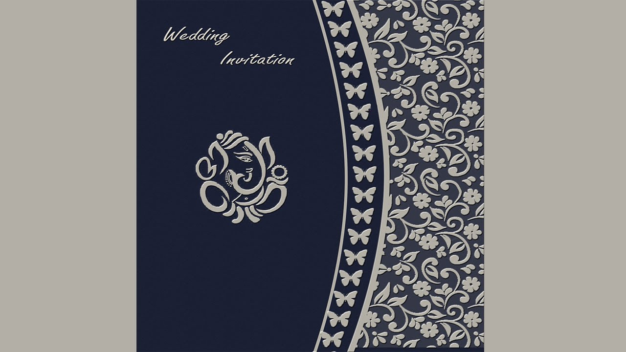 How To Design A Wedding Invitation Card Front Page In Photo