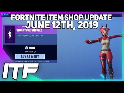 Fortnite Item Shop *NEW* SIGNATURE SHUFFLE EMOTE! [June 12th, 2019] (Fortnite Battle Royale)