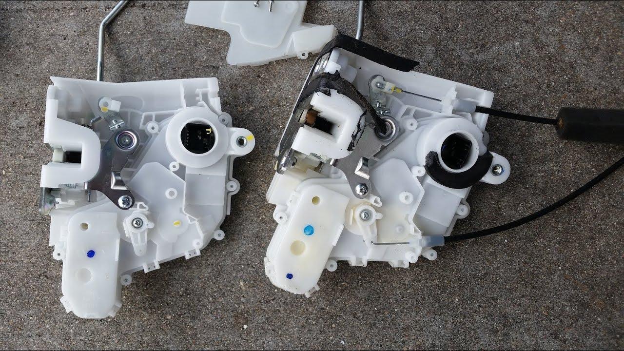 2007 Honda CRV Door Lock Actuator Swap  YouTube