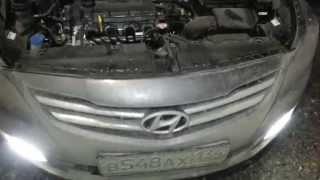 Работа двигателя Hyundai Solaris 2014 смотреть