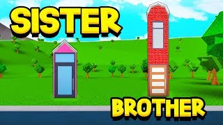 SISTER Vs BROTHER 1x1 BLOXBURG HOUSE BUILD OFF!! (Roblox)