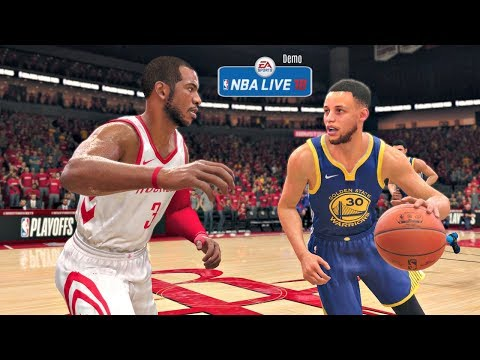 NBA Live 18 Demo Gameplay | Golden State Warriors vs Houston