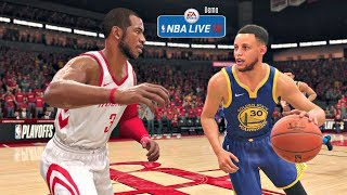 NBA Live 18 Demo Gameplay | Golden State Warriors vs Houston Rockets Full Game (Updated Rosters!)