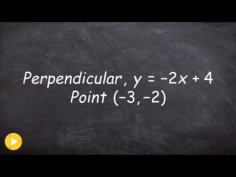 Find The Equation Of A Line Perpendicular To A Line Through A Point
