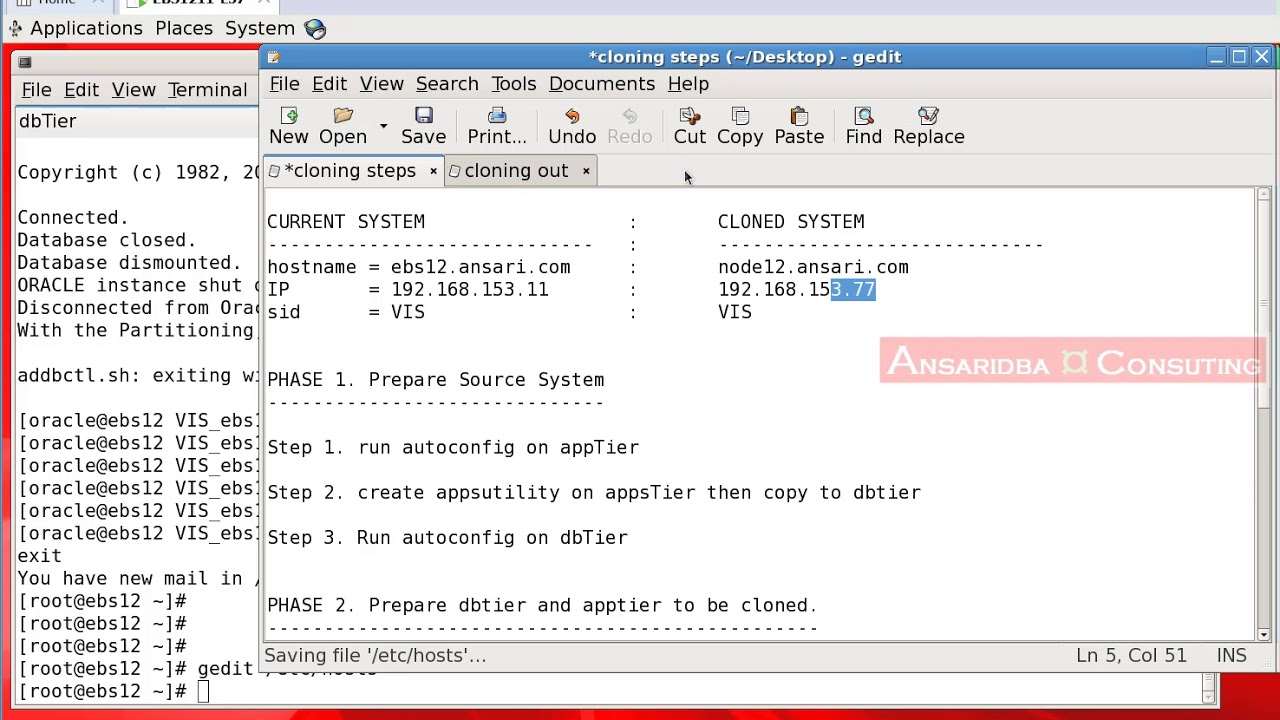 Demo on Cloning e-business suite R12 1 x