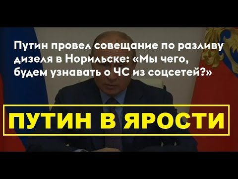 Разлив нефти! Путин в ярости: органы власти о ЧС будут узнавать из соцсетей, что ли?
