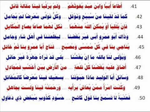 قصيدة أبي طالب في نصرة النبي - محمد بن هادي المدخلي ...