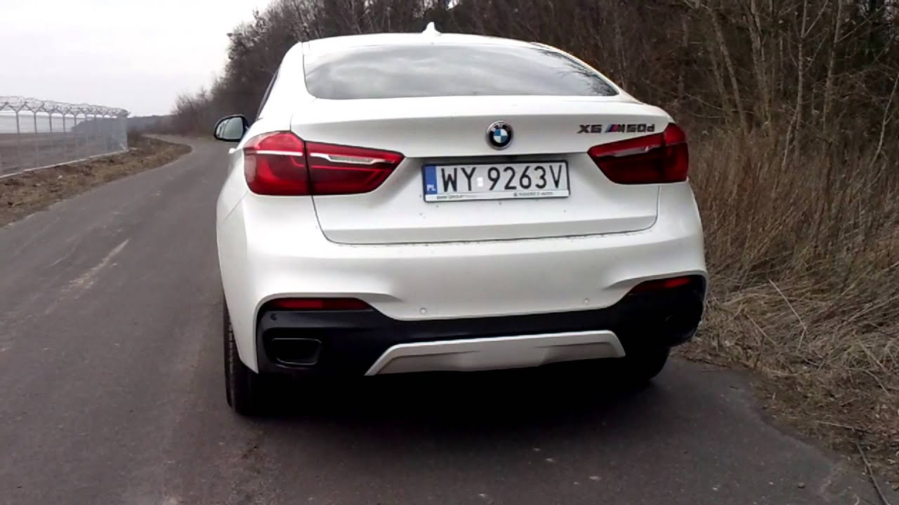 New Bmw X6 M50d 2015 Exhaust Sound Youtube