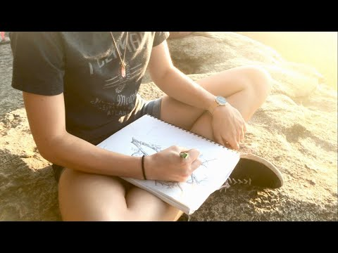 Art College Vlog 2 | Drawing on the edge of a CLIFF!