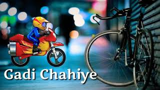 Paidal Chal Raha Hoon Gaadi Chahiye Song by Animation