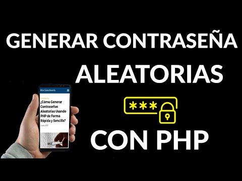 Cómo Generar Contraseñas Aleatorias Usando PHP