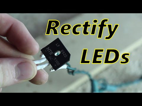 Fix Flickering LED Christmas lights! (rectifying LED lights) - YouTube