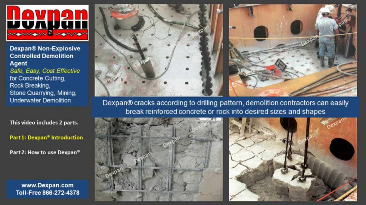 Concrete Demolition, Rock Breaking, Quarrying, Excavating have NEVER been  EASIER! Dexpan Demolition