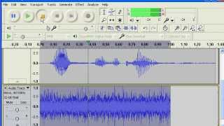 How to make a Radio/Phone Effect In Audacity.