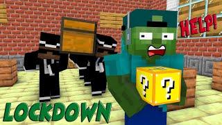 Monster School: LUCKY BLOCK CHALLENGE DURING LOCKDOWN - Minecraft Animation