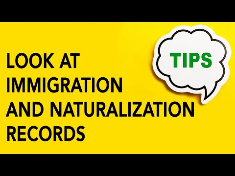 Look at Immigration and Naturalization Records | Genealogy Gold Podcast