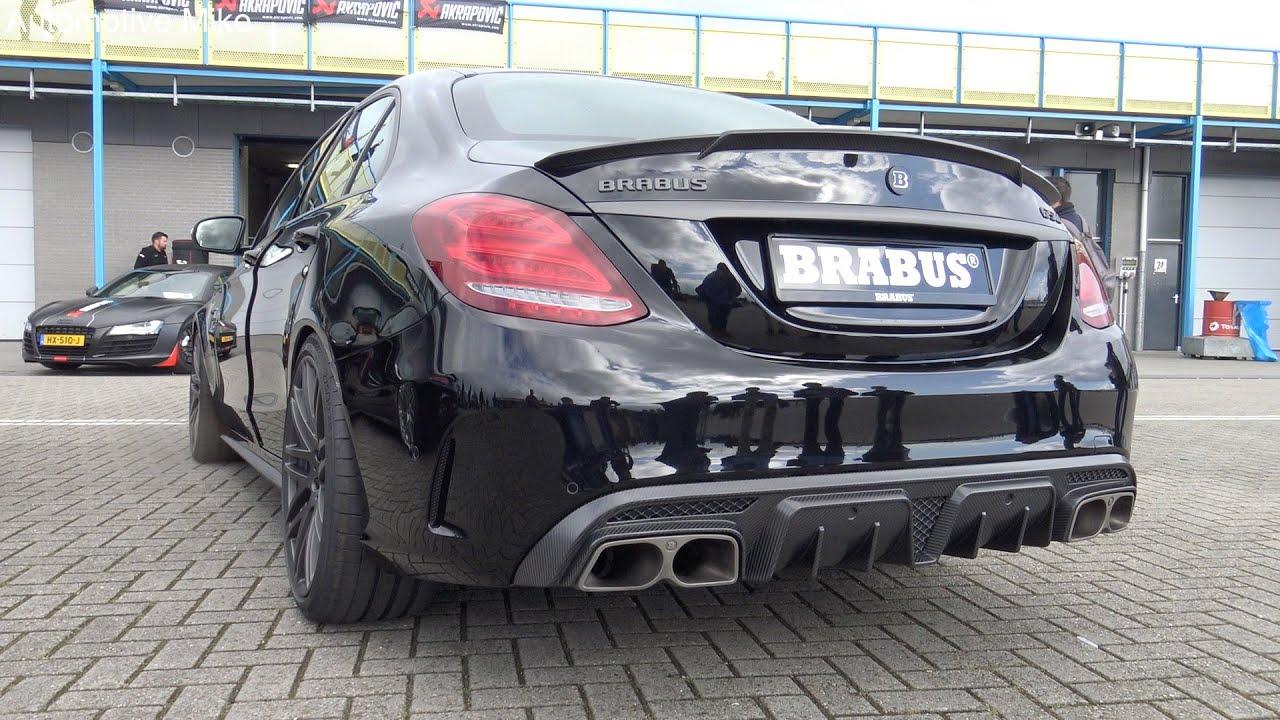 Brabus C 650  2016 Mercedes C63 S AMG LOUD REVS  detailshots