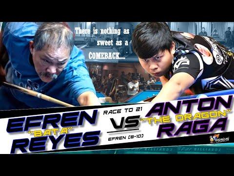 "Efren ""BATA"" Reyes🆚Anton ""The Dragon"" Raga / Race 21 / (Handicap Efren 8-10)"