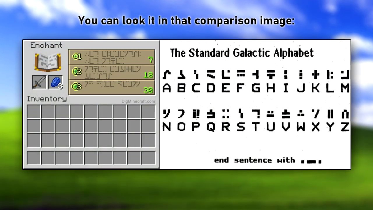 standard galactic alphabet font download