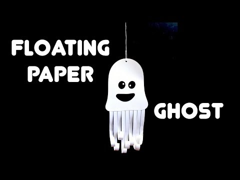Floating Paper Ghost - Kids Halloween Crafts