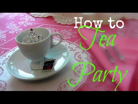 How to Tea Party Mothers Day Birthday Party Ideas YouTube