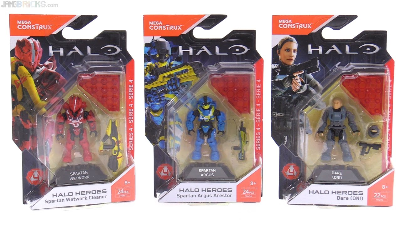 Mega Construx Halo Heroes Series 4 Dare, Wetwork Cleaner, Argus Arestor &  summary