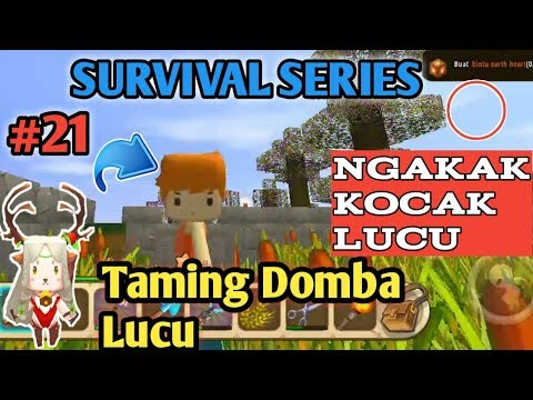 Taming Domba Lucu Di Mini World Block Art Survival Indonesia Episode 21 - 동영상