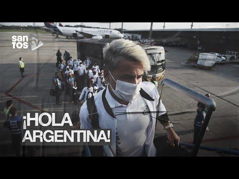 SANTOS CHEGA A ARGENTINA PARA PRIMEIRO JOGO DA SEMIFINAL DA LIBERTADORES
