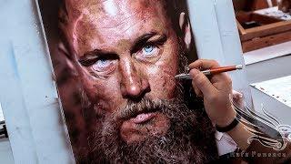 Painting Ragnar Lothbrok - Airbrush Ragnar Vikings /Rafa Fonseca