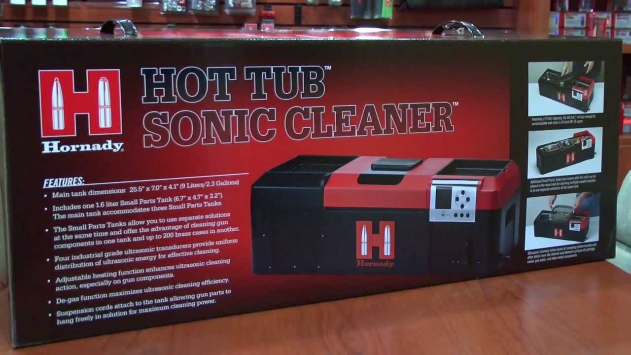 Hornady Hot Tub Sonic Cleaner Promo - YouTube