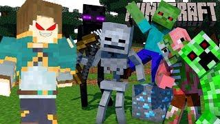 Strengthlee - Quái Vật Đâu Ra Hết Đây Một Mình Ta Giết Hết | Minecaft | Monsters Out Here Kill All thumbnail