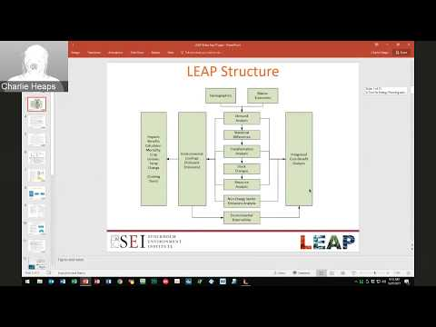 LEDS-EEP webinar series: Charles Heaps - LEAP for municipal energy sector planning