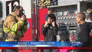 Families learn about fire safety