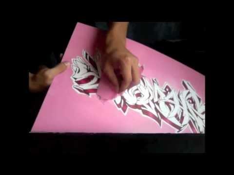 Tutorial efecto con latas y papel bond para canvas youtube - Graffitis en papel ...