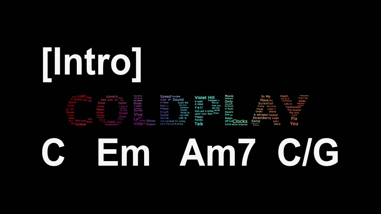 Coldpaly   Fix you   Guitar Chords - YouTube