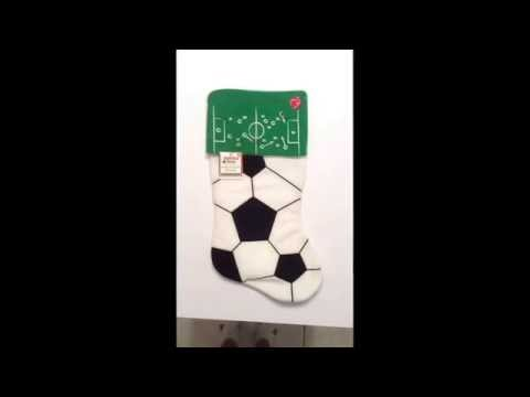 Holiday Time Musical Sport Stocking Soccer