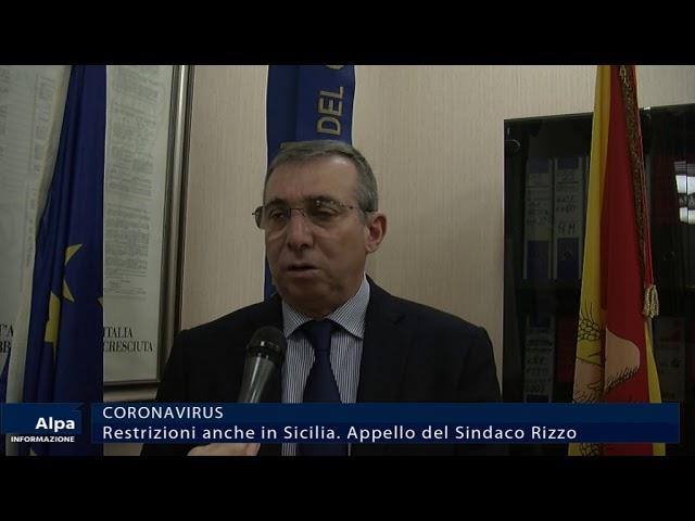 Coronavirus, restrizioni anche in Sicilia. Appello del sindaco Rizzo