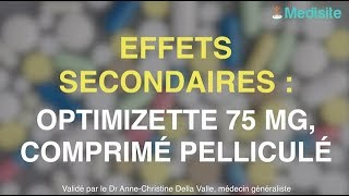 Optimizette 75 mg, comprimé pelliculé : ses effets secondaires